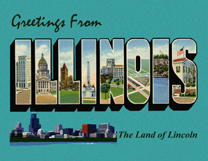 Illinois Custom Postcard
