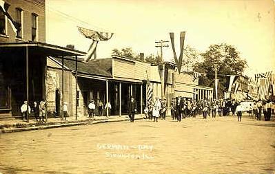Vintage Staunton Illinois postcard