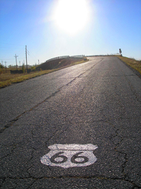 Route 66 Shield on road  into Galena, Kansas