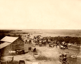 Dodge City, Kansas in late 1800s