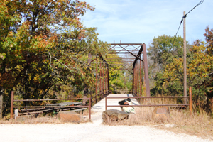 Iron truss bridge over Elk River, Elk Falls, Kansas