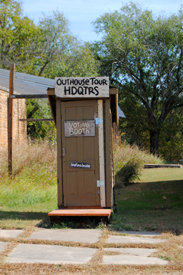 Outhouse Tour Voting Booth, Elk Falls, Kansas