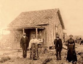 Exodusters in Nicodemus Kansas.