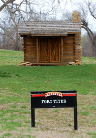 Fort Titus, Kansas is part of Lecompton today