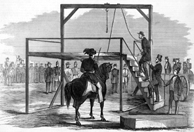 John Brown ascending the scaffold to be hanged