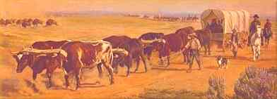Wagon Train to Dodge City Kansas