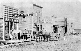 Wichita, Kansas Main Street, 1875