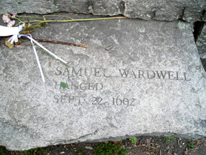 Samuel Wardell Cenotaph at the Salem Witch Memorial