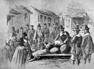 Giles Corey was pressed to death for refusing to make a plea