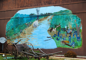 Askew Civil War Skirmish Mural