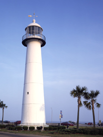 The Biloxi Lighthouse was built in 1845.