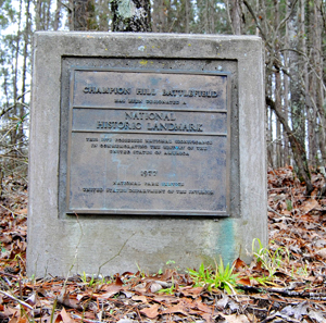 Champion Hill Battlefield National Historic Landmark marker,  Kathy Weiser-Alexander 2013
