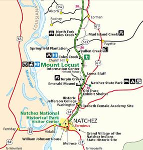 Natchez Trace  Points Of Interest By Mile Post  Page 2