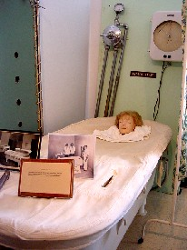 Display of hydrotherapy at the Glore Psychiatric Museum