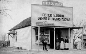 Peter Marchi Store in Rosati, Missouri, 1905