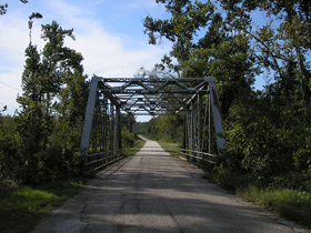 Steel truss bridge over Johnson Creek, Spencer, Missouri