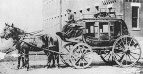 Ben Holliday Stagecoach in Weston, Missouri