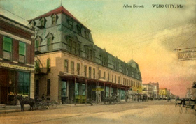 Historic Webb City postcard.