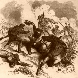 Battle of Wilsons Creek, Missouri, 1861, Frank Leslie's Illustrated Newspaper