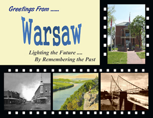 Warsaw, Missouri Custom Postcard