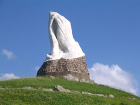 Praying Hands Statue in Webb City, Missouri