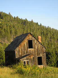 Old Building in Elkhorn, Montana