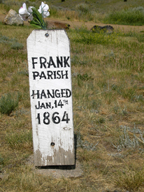 Frank Parish Grave, Virginia City, Montana