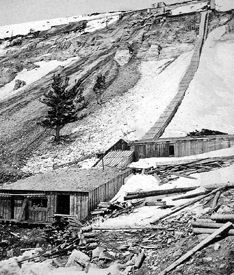 Hecla Mines atop Lion Mountain, Montana