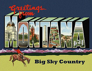 Custom Montana postcard by Legends of America