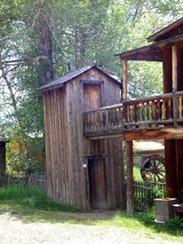 Double-decker outhouse in Nevada City, Montana