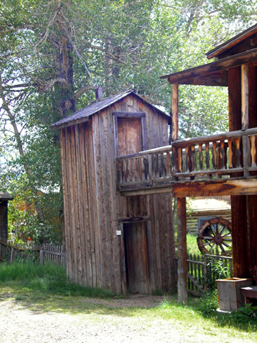 Double Decker Outhouse Nevada City Montana