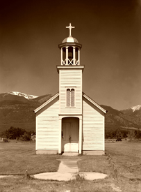 The original 1841 St. Mary's Mission still stands at  Fort Owen, Montana.