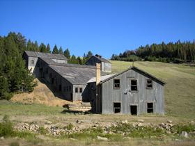 Mill in Comet, Montana
