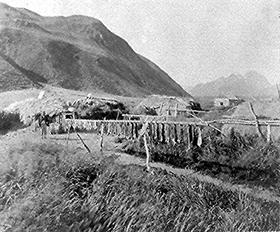 Aleut Village, 1889