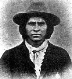 Apache Kid as a prisoner in Globe, Arizona in 1889