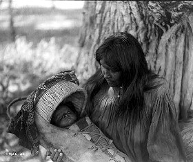 Apache Mother and Baby