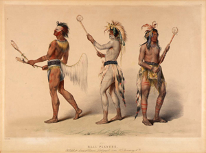 """George Catlin painting """"Ball Players"""""""