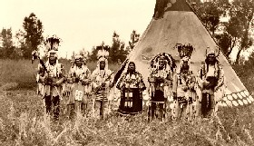 Blackfoot Indians, 1913
