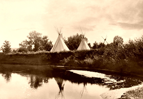 Blackfoot Tipis, 1913.