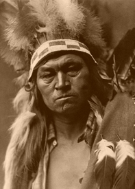 Cayuse Warrior, 1910, Edward S. Curtis