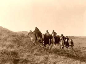 Cheyenne Indians on horses