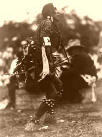Chief Turtle doing the Rain Dance in Montana, 1920