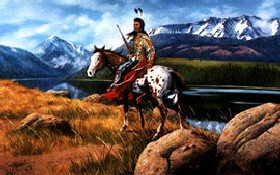 Chief Joseph's Land, a painting by David Manuel
