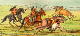 Comanche Indians by Frontier artist George Caitlin