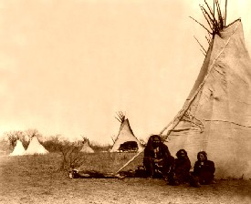 A Comanche camp in 1873