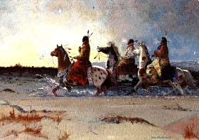 Comanche Moon Painting