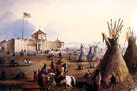 Fort Laramie painting by Alfred Jacob Miller