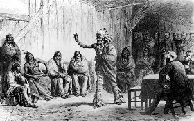 The Tribal Grand Council meeting over the Fort Laramie Treaty