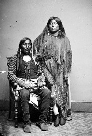 Kiowa Lone Wolf and his wife