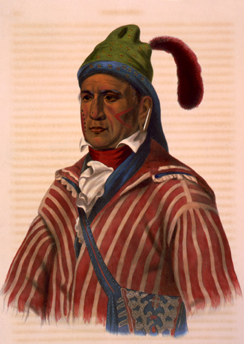 Me-Na-Wa, a Creek warrior, McKenney and Hall, 1837.
